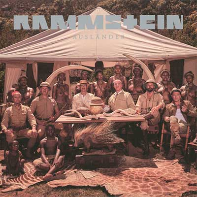 Album cover for Ausländer by Rammstein