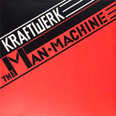 Album cover for The Man Machine by Kraftwerk
