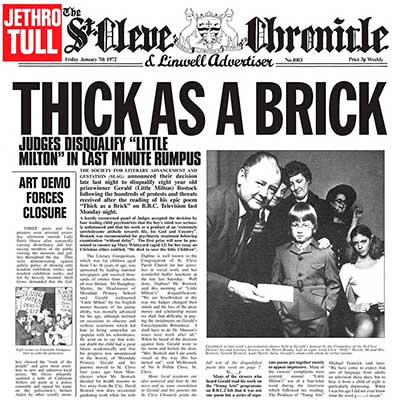Album cover for Thick As A Brick by Jethro Tull